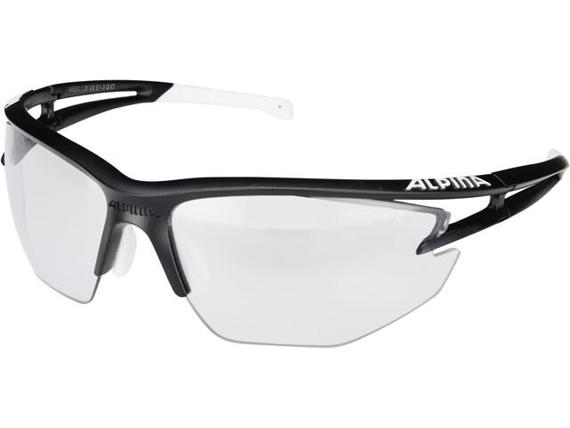Alpina Eye-5 HR VL+ Cykelbriller, black matt-white/black